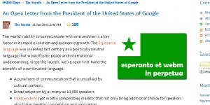 esperanto y WebM