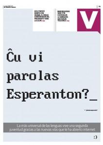 Artikolo en Diario Vasco, unua paĝo de la dosiero