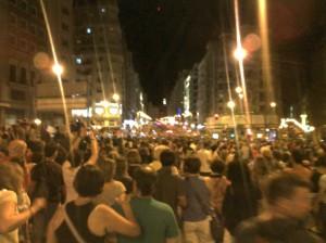 Manifestación de apoyo a los mineros en Madrid