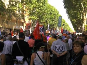 Manifestación de la Cumbre Social contra recortes