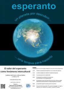 Conferencia sobre esperanto en Madrid