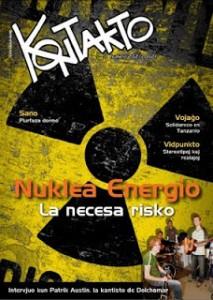 portada revista Kontakto sobre energía nuclear