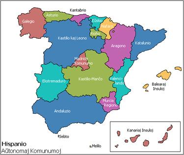 Aŭtonomaj teritorioj de Hispanio