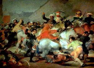 Pentraĵo de Goya pri la okazintaĵoj je la Dua de Majo 1808