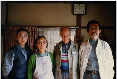 Eduardo Vivancos con la familia de Taiji Yamaga